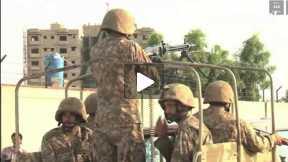 Army Troops Deployed In sensitive areas of Karachi