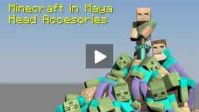 Minecraft - Maya - Tutorial - Minecraft in Maya, Head Accessories - Helmet