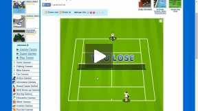 Playing Tennis game Online 2