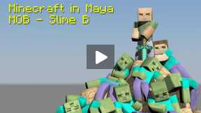 Minecraft - Maya - Tutorial - Minecraft in Maya, Slimes - Active Blend Shapes - Part B