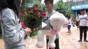 Guy Surprises his Girlfriend on their Anniversary